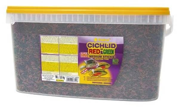 Bilde av TROPICAL CICHLID RED & GREEN STICKS MEDIUM 10L/3.6KG